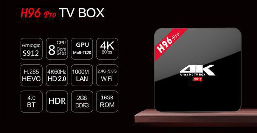 android tv box h96 pro+