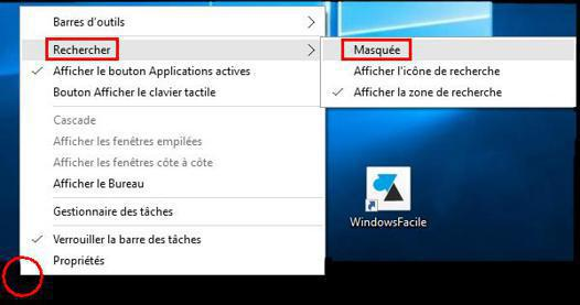barre latérale windows 10