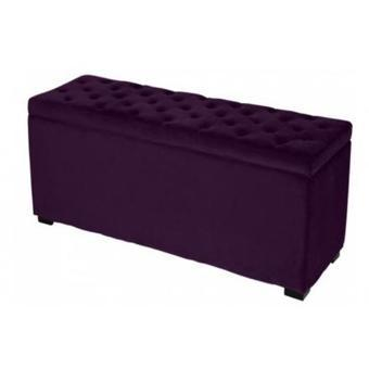 banc coffre velours