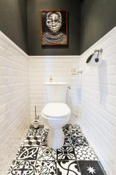 decoration toilette noir et blanc