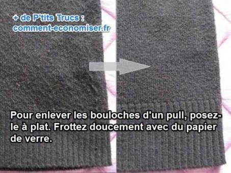 enlever bouloches pull