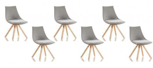 lot 6 chaises scandinaves