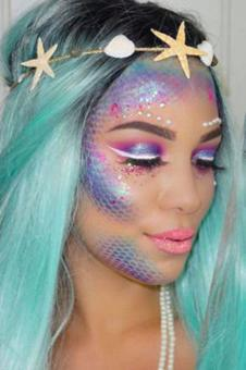 maquillage sirene facile