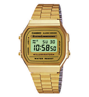 montre casio doree