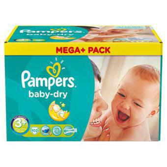 pampers baby dry taille 3 plus