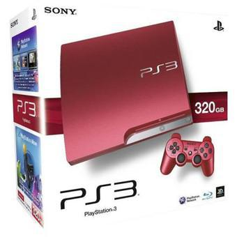 ps3 slim rouge