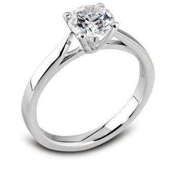 solitaire en diamant or blanc