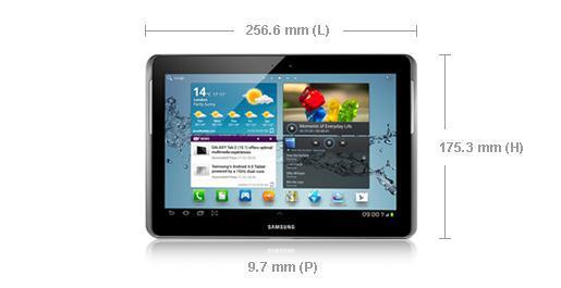 tablette samsung dimensions
