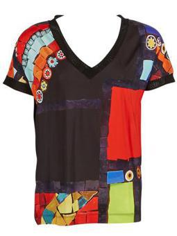 tee shirt multicolore femme