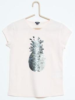 tee shirt paillette reversible fille