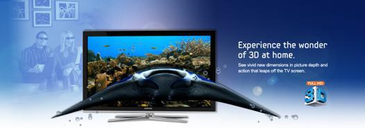 tv led 3d samsung