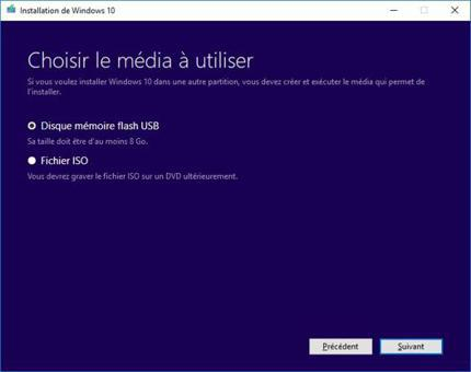 windows 10 avec clé windows 7